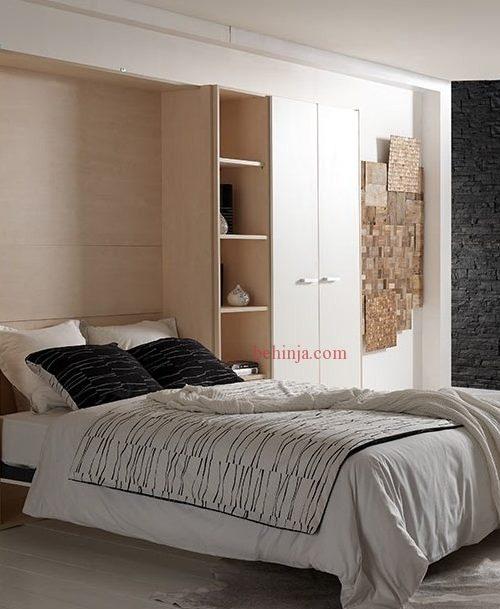 تخت خواب دیواری تاشو
