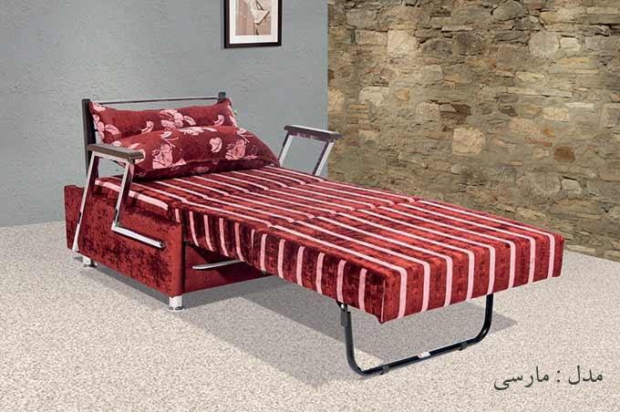 مبل یک نفره تخت خواب شو